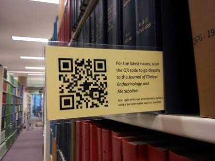 Latest journal issues: from the shelf to the ejournal using QR codes