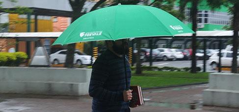 Umbrella to borrow (Empréstimo de guarda-chuva em bibliotecas)