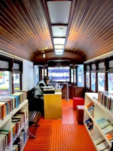 Source: https://www.treehugger.com/culture/recycled-train-wagon-transformed-street-library-curitiba.html