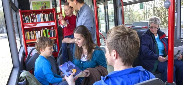 German Buses Feature Bookshelves and Free Books